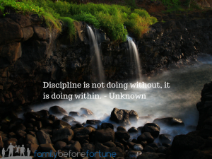 May 4th Discipline is not doing without, it is (2)